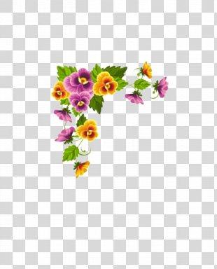 Paper Borders And Frames Flower Designs Floral Design - Flower PNG
