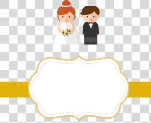 Wedding Invitation Marriage Clip Art - Vector Wedding Invitation Label PNG