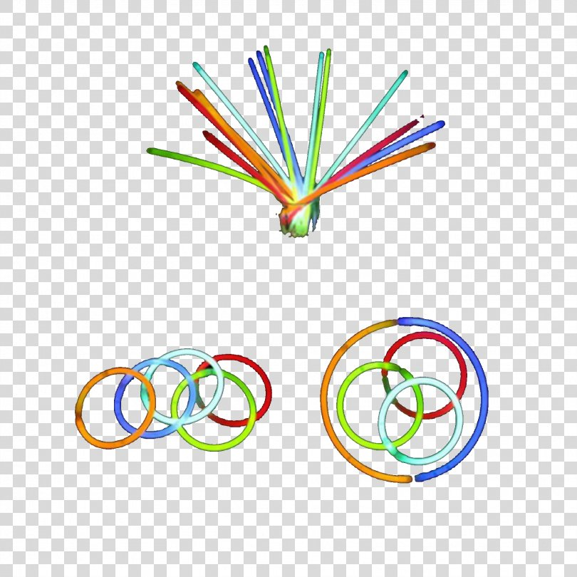 Color Luminescent Glow Stick Bracelet PNG