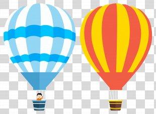 Flight Hot Air Balloon - Balon PNG