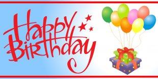 Birthday Cake Banner Happy Birthday To You Clip Art - Happy Birthday Sign PNG