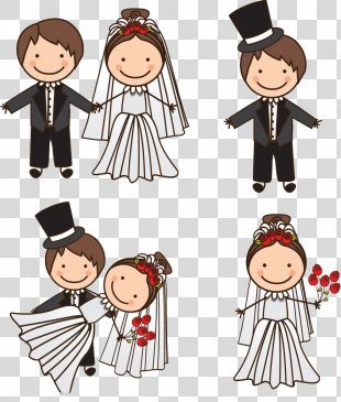 Wedding Invitation Bridegroom Illustration - Pretty Bride PNG