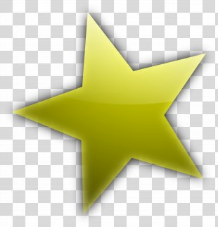 Star Cartoon Shape Clip Art - Gold Five-pointed Star PNG