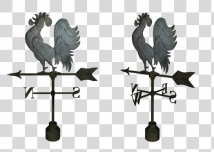 Rooster Weather Vane Drawing Chicken - Rooster PNG