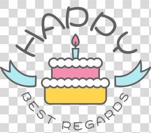 Birthday Cake Happy Birthday To You Clip Art - Happy Birthday Cake Label PNG