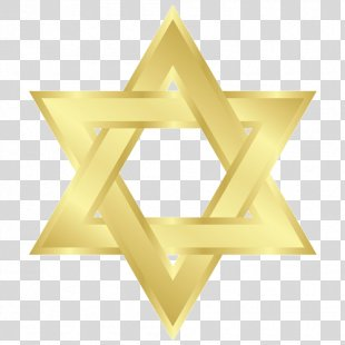 Star Of David Judaism Clip Art - Gold Hexagon PNG