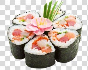Sushi Sashimi Japanese Cuisine Makizushi Rice - Sushi PNG