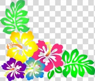 Hawaiian Borders And Frames Flower Clip Art - Moana PNG