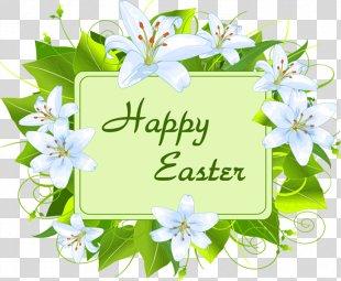 Easter Flower Clip Art - Happy Easter PNG