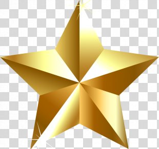 Gold Star Clip Art - Eighty-one Army Pentagram Element PNG