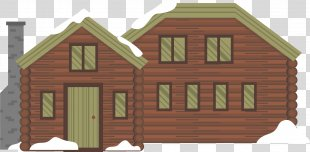Snow Winter Euclidean Vector - Forest Chalet In Winter PNG