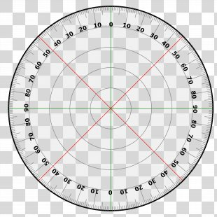 Protractor Circle Degree Template Turn - 360 Degrees PNG