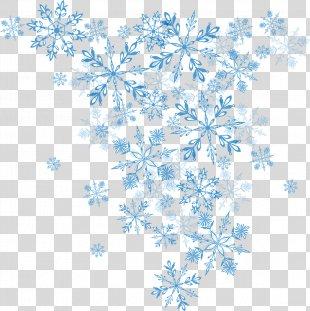 Snowflake Winter Euclidean Vector Christmas - Vector Blue Snowflake PNG