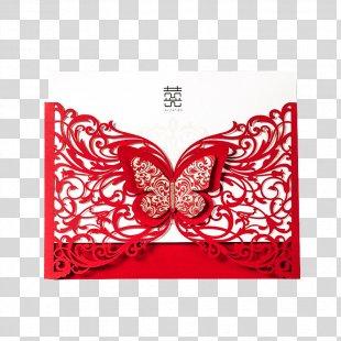 Wedding Invitation Paper Red Envelope - Invitations Wedding Invitation Ideas PNG