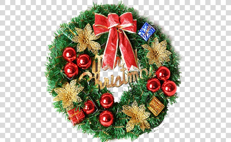Christmas Ornament Wreath Christmas Decoration Santa Claus, Christmas Wreath PNG