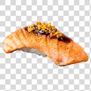 Smoked Salmon Japanese Cuisine Sushi Sashimi Onigiri - Sushi PNG