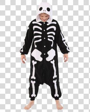 Skeleton Onesie Costume Kigurumi Pajamas - Skeleton PNG