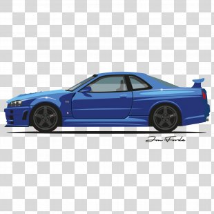 Compact Car Nissan Skyline GT-R Sports Car - Skyline PNG