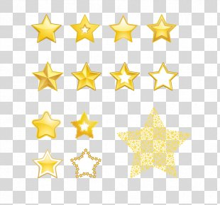 Star Royalty-free Euclidean Vector Clip Art - Gold Five-pointed Star PNG