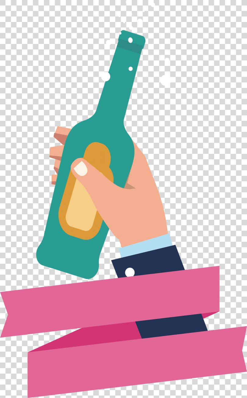 Poster Illustration, Hold Up Your Glass And Celebrate PNG, Free Download