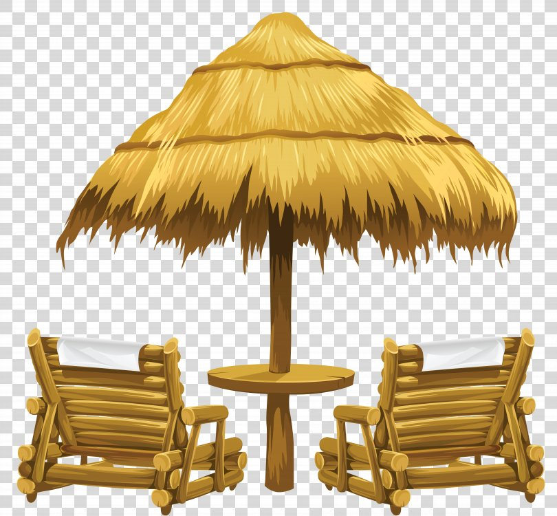 Creekside Bible Church Clip Art, Transparent Tiki Beach Umbrella And Chairs Clipart PNG