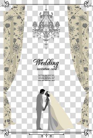 Wedding Invitation Clip Art - Vector Wedding Invitation PNG