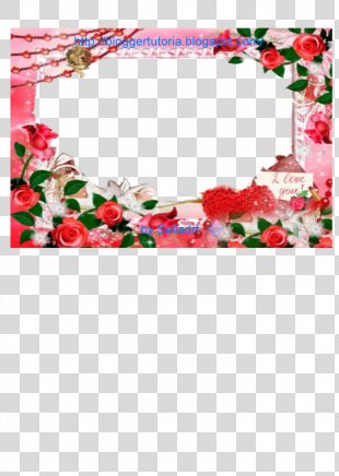 Floral Design Artificial Flower Picture Frames - Fhoto Frame PNG