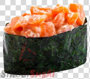 Sushi Pizza Japanese Cuisine Makizushi Smoked Salmon - SALMON PNG