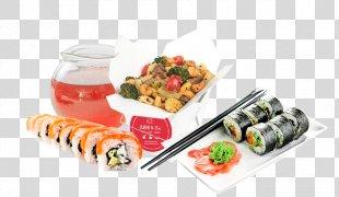 California Roll Sushi Gimbap Japanese Cuisine Makizushi - Sushi PNG