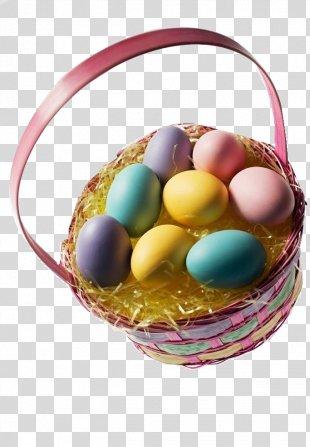 Easter Egg Basket Christmas - Easter Egg Basket PNG
