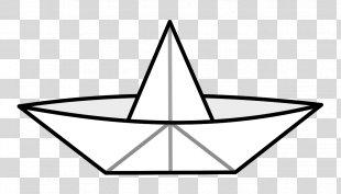 Sailboat Paper Clip Art - Paper Boat PNG