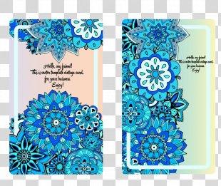 Wedding Invitation Convite Euclidean Vector Blue Marriage - Vector Flowers Wedding Invitations PNG