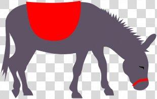 Donkey Rides Horse Clip Art - Donkey PNG