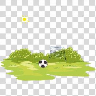 Football Player Football Pitch Stadium - Football Field PNG