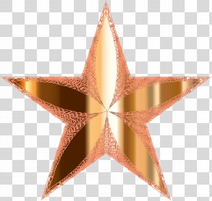 Star Metallic Color Clip Art - Star PNG