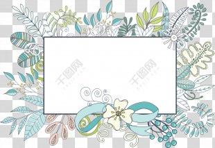 Floral Design Borders And Frames Flower Clip Art Image - Ornate Border PNG