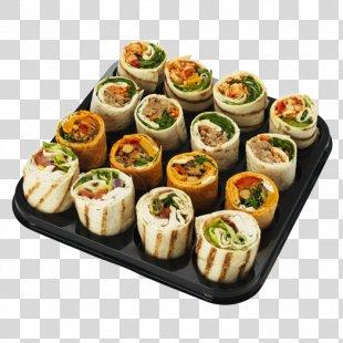 California Roll Sushi Hors D'oeuvre Vegetarian Cuisine Gimbap - Sushi PNG
