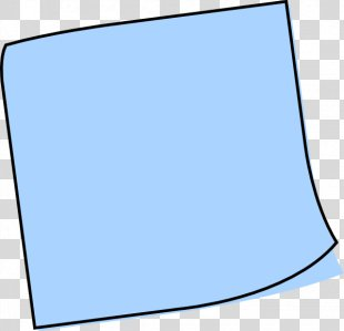 Post-it Note Blue Paper Musical Note Clip Art - Sticky Note Clipart PNG