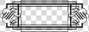 Clip Art Calligraphic Frames And Borders Vector Graphics - Art Deco Frame Clip Art PNG