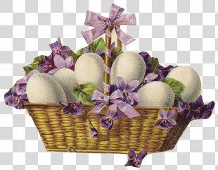 Easter Bunny Easter Basket Easter Postcard Clip Art - Easter PNG