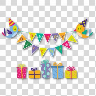 Birthday Cake Happy Birthday To You Gift Greeting Card - Pull Flag Material PNG