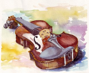 Violin Watercolor! Watercolor Painting Cello - Violin PNG