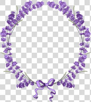 English Lavender Borders And Frames Flower Clip Art - Lavender PNG