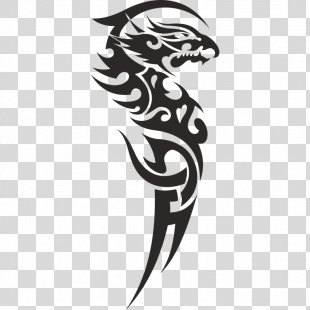 Sleeve Tattoo Tribe Dragon Clip Art - Dragon PNG