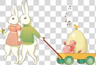 Easter Bunny European Rabbit Clip Art - Happy Easter PNG