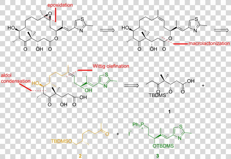 Epothilone Retrosynthetic Analysis Technology, Object PNG