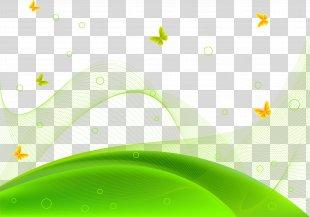 Euclidean Vector Wallpaper - Vector Creative Green Hillside Meadow PNG