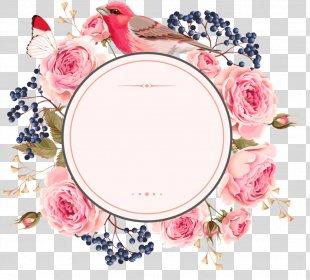 Wedding Invitation Picture Frames Flower Clip Art Borders And Frames - Flower PNG