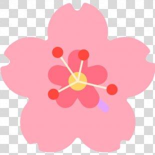 Emoji Sticker Flower Cerasus Hibiscus - Emoji PNG