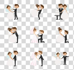 Wedding Invitation Marriage Clip Art - Wedding Couple PNG